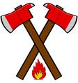 Fireman axe vector image