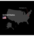 Detailed map of United States and capital city vector image