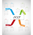 2017 calendar with paper stripes and seasons vector image