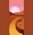 abstract landscape design vector image