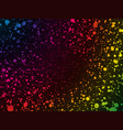 abstract rainbow color dots background vector image vector image