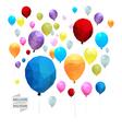 Balloon polygon vector image