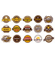 beer label badges retro beers brewery lager vector image vector image