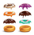 biscuits donuts frostings realistic set vector image vector image