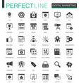 black classic digital marketing web icons set vector image vector image