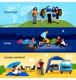 camper people banners set vector image vector image