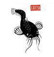 Catfish black and white vector image vector image