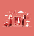 choose to buy clothes in clothing fashion store vector image