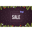 christmas sale banner template with glitter balls vector image vector image