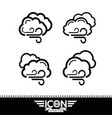 cloud with wind icon vector image vector image
