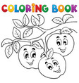 coloring book fruit theme 1 vector image vector image