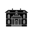 cute villa black icon concept cute villa vector image