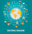 dating online concept vector image vector image