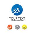 digital electronic logo vector image vector image