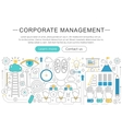 elegant thin line flat modern Corporate vector image vector image