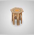 ethnic traditional moroccan hexagon coffee table vector image