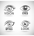 Eyes Icons Set vector image vector image