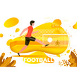 football player goalkeeper and stadium vector image