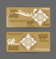 Gift Voucher Thai art pattern vintage design vector image vector image