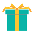 green gift box icon vector image