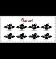 halloween collection of cute cartoon bats with vector image vector image