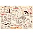 halloween of design elements vector image