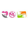 hand care template set vector image