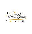 hand drawn happy new year greeting card vector image vector image