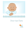 happy african baboy arrival announcement vector image