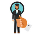Human resources search candidate cartoon flat