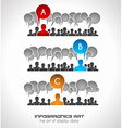 Infographics concept background to display your vector image vector image