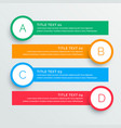 infographics steps banners template vector image vector image