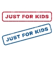 Just For Kids Rubber Stamps vector image vector image