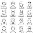 Line people icon vector image vector image