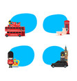 london sights stickers vector image