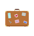 luggage journey for traveler with bag icon vector image vector image