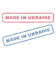 made in ukraine textile stamps vector image vector image