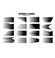 manga comic motion speed lines set vector image