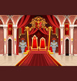 medieval artwork with royal armors vector image