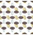 modern stylized cocoa pods shapes in a geometric vector image
