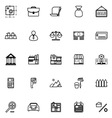 Mortgage and home loan line icons on white vector image vector image