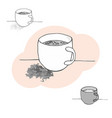 mug with a drink drawn by hand vector image vector image