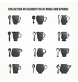 mugs and spoons vector image vector image