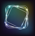 Neon background with rounded rectangle vector image vector image