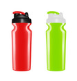 plastic shaker on white backgroundcocktail shaker vector image vector image