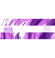 purple surface splash watercolor banner vector image vector image