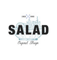 salad food logo original design retro emblem for vector image vector image