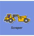 scraper color flat icon vector image vector image