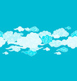 seamless border with chinese clouds vector image vector image