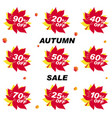 set bright banner for autumn sale discount offer vector image vector image